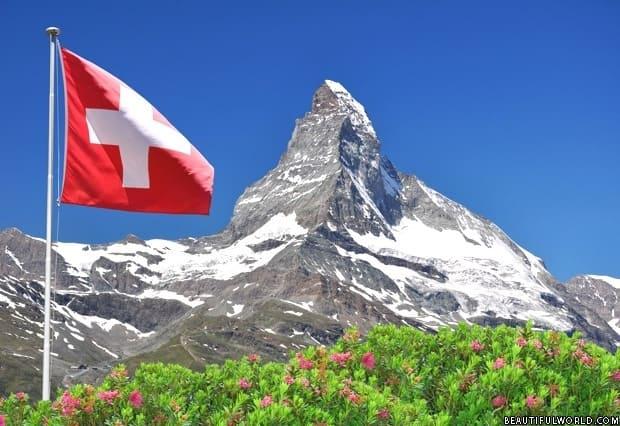 Matterhorn peak in Switzerland