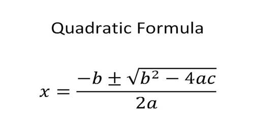 quadratic equation formula